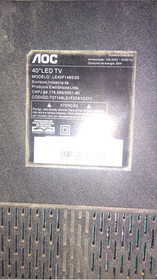 Tv Aoc 40 Led Tv Le 40f1465/25