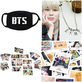 10 Polaroids Bts Kpop + Máscara + Colar Army + 10 Card