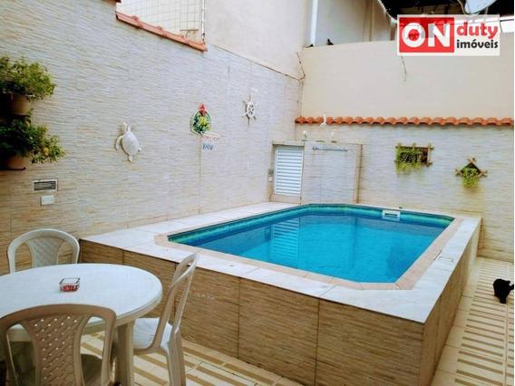 Casa Com 3 Dormitórios À Venda, 157 M² Por R$ 890.000 - Marapé - Santos/sp - Ca0461