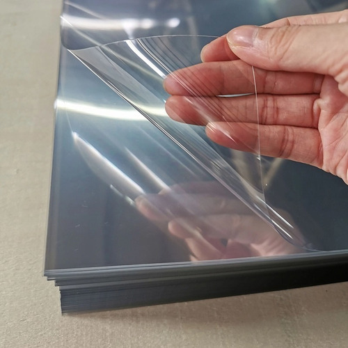 20 Folhas De Acetato Pet Transparente - 28x40cm 0,40mm Esp.