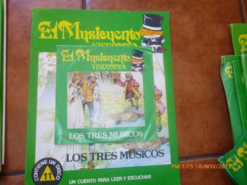 Vinilo Single Del Cuento Los Tres Musicos Más Libro(833