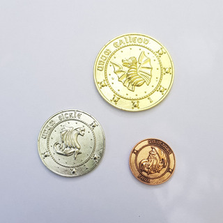 Set De 3 Monedas Gringotts Harry Potter *nuevo*
