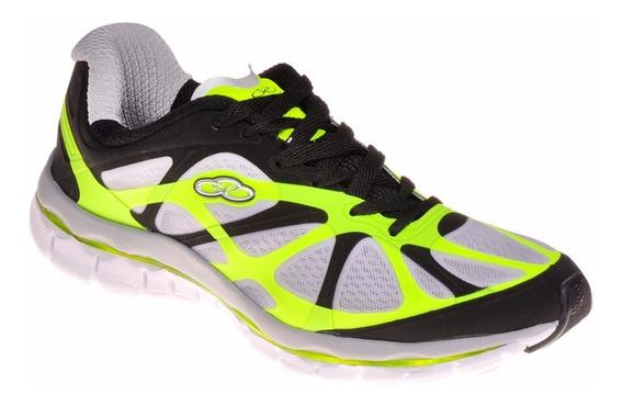 Tênis Masculino Olympikus Flex Led 898 Preto/limão Promoção