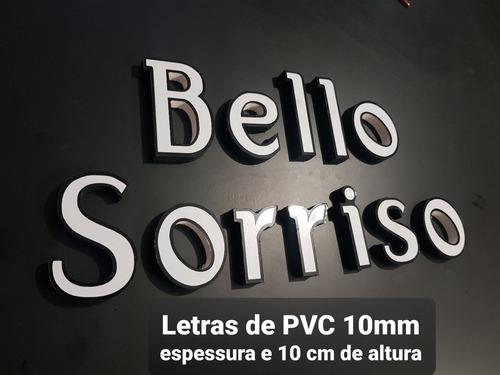 Imagem 1 de 2 de Letras Números De Pvc Expandido 10mm  Com 10 Cm De Altura