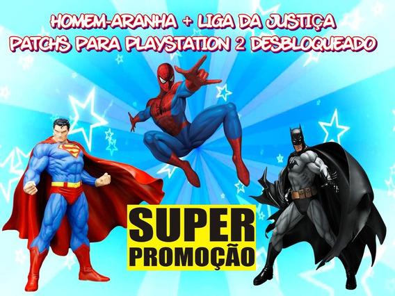 Homem-aranha + Liga Da Justiça - Coleção Para Playstation 2