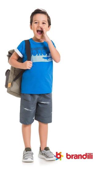 Kit Roupa Infantil 4 Conjuntos Menino - Tam 4, 6, 8 Ou 10