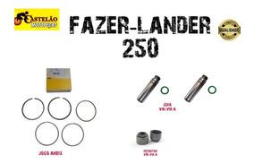 Jogo Aneis Pistao Fazer-lander 250+guia Valvula+retentor