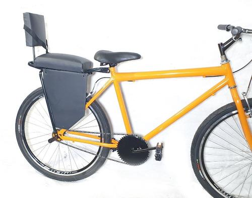 Imagem 1 de 5 de Cadeirinha Assento Almofada Traseiro Bike Kids + Bagageiro