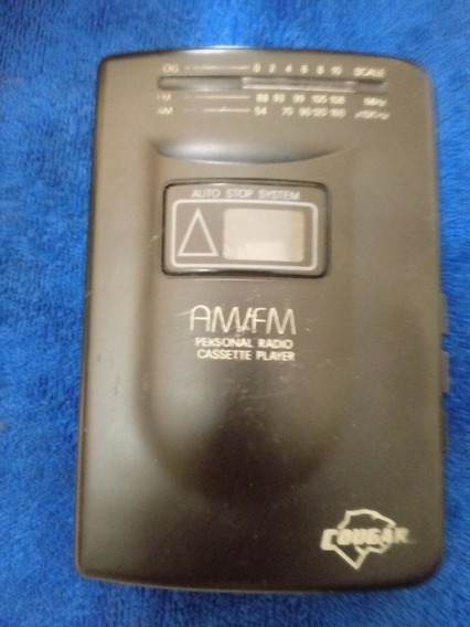 Walkman Cougar Estereo Cassete Player Am/fm Modelo Wm2ss-n