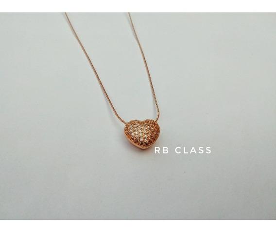 Collar Corazón Diamantes
