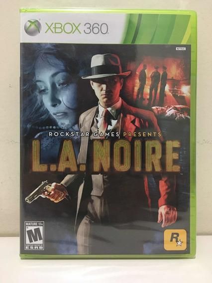 L.a. Noire La Microsoft Xbox 360 X360 Rockstar Novo Lacrado