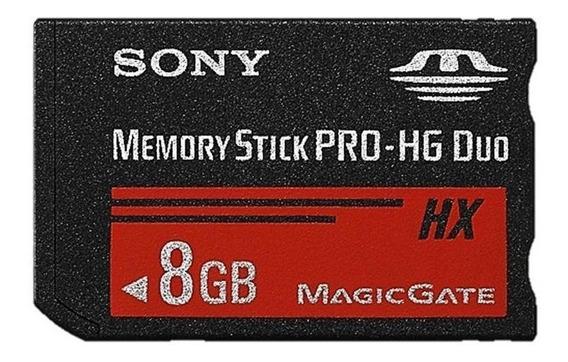 Cartão Memoria Sony 8gb Memory Stick Pro Hg Duo Hx Psp