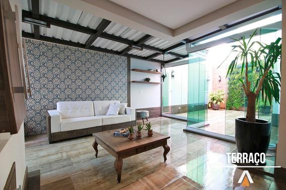Acrc Imóveis - Apartamento À Venda, Com Amplo Terraço, 03 Dormitórios Sendo 01 Suíte E 02 Vagas De Garagem. - Ap01219 - 32143020