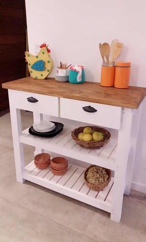 Imagen 1 de 8 de Mesa De Arrime Mueble Multiusos  Recibidor Mueble De Cocina