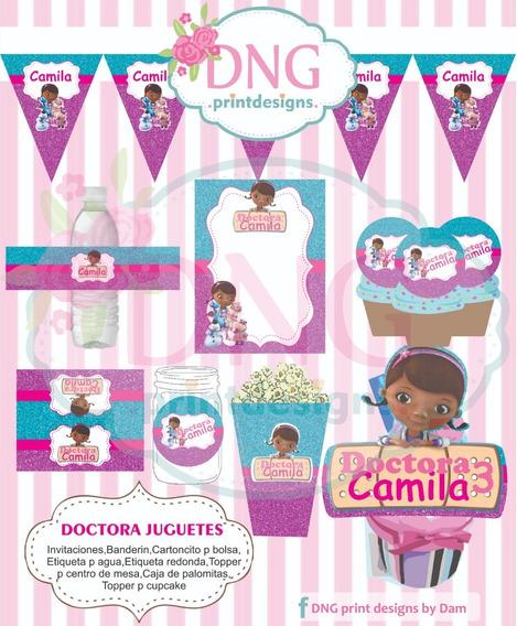 Kit Imprimible Doctora Juguetes Nenas Editable + Regalo