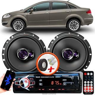Som Carro Radio Mp3 + 2 Alto Falante Pioneer D 6
