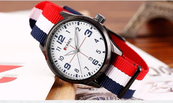 Relógio Masculino Curren 8195 Analógico - Cores