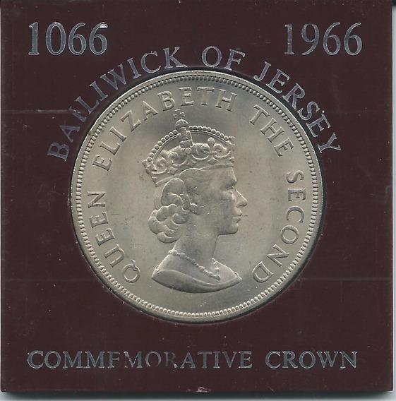 Moneda De Jersey 5 Shillings 1966 S/c. Caja Original Oferta