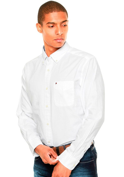 Camisa Tommy Hilfiger Classic Fit Capote Branca