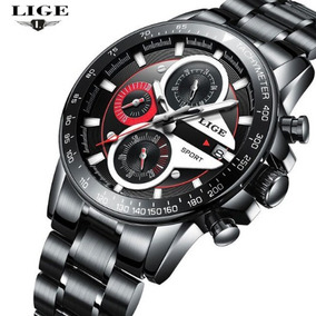 Relógio Masculino Lige De Luxo Quartzo Em Aço Inox Promoção