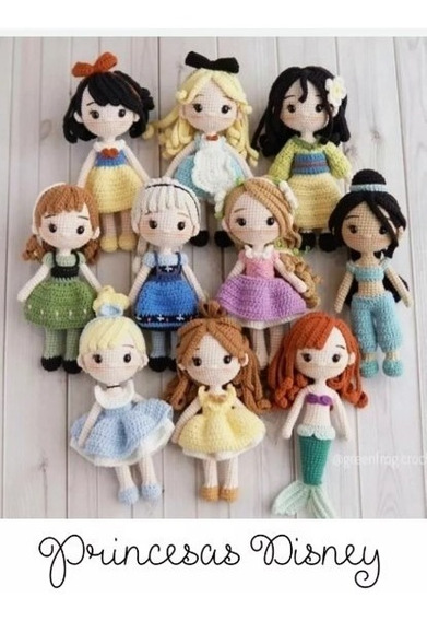 10 Patrones Princesas Amigurumi