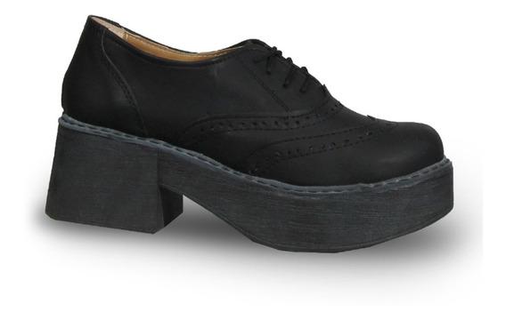 Mc.klein 817 Zapato Acordonado Taco Plataforma Moda Mujer