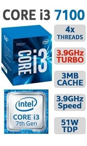Processador Intel Core I3 7100 Lga 1151 3.9ghz 7ªgeração Oem
