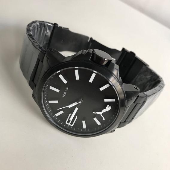 Relógio Puma Preto Detalhe Branco !