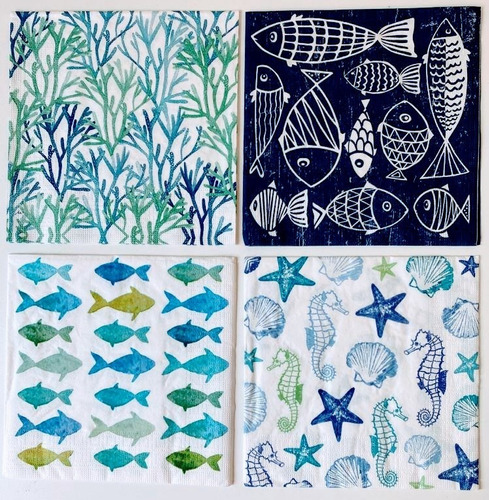 Servilletas Decoupage Set Marino Laura Craft