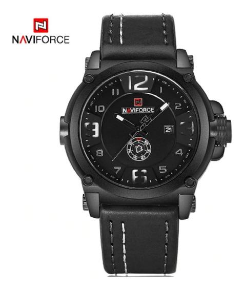 Relógio Masculino Militar Tático Naviforce Pulseira Couro