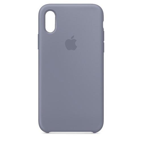 Carcasa Funda De Silicona Para iPhone XS Lavender Gray