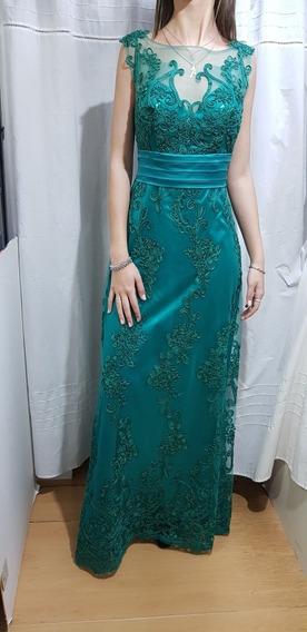 Vestido Verde Largo...