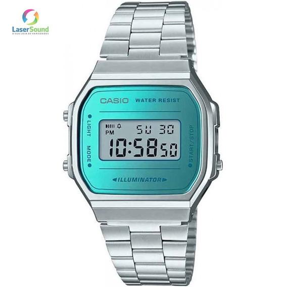 Relógio Casio Feminino Vintage A168wem-2df, C/ Garantia E Nf
