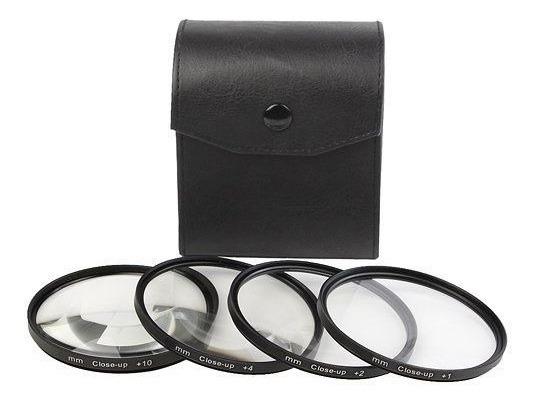 Kit Lentes Filtro Close Up Macro +1 +2 +4 +10 82mm