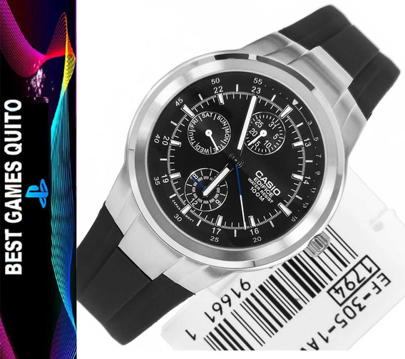 Reloj Casio Ef-305d Edifice Para Hombre De Acero Sumergible