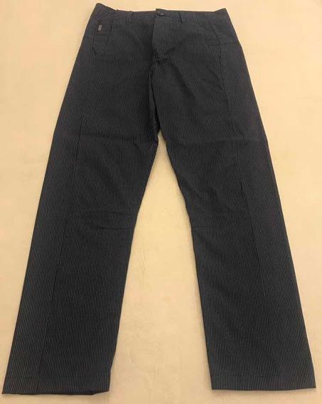 Pantalón Tascani Babucha Azul Rayado Recto Tascani Jeans