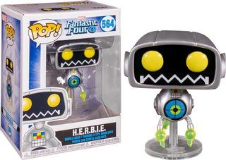 Funko Pop Marvel Los 4 Fantasticos Herbie Robot Original