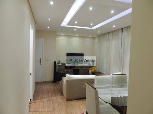 Apartamento Com 2 Suítes E 2 Vagas De Garagem À Venda No Condomínio Parque Clube, 91 M² Por R$ 700.000 - Vila Augusta - Guarulhos/sp - Ap0187