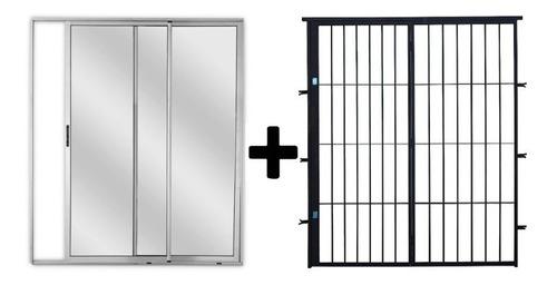 Imagen 1 de 3 de Ventana + Puerta Reja De 150x200 Súper Promo
