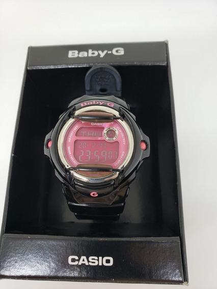 Relógio Casio Baby G Preto E Rosa - Raro