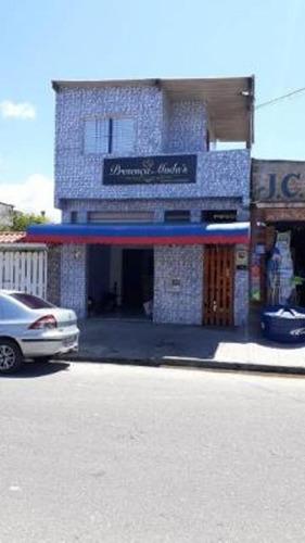Casa Com Comércio Em Rua Pavimenta No Bairro Savoy Em Itanhaém - 0119