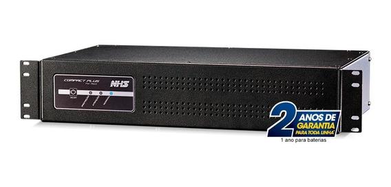 Nobreak 1200va Rack 2u Bivolt Nhs Compact Plus 8 Saídas 120v