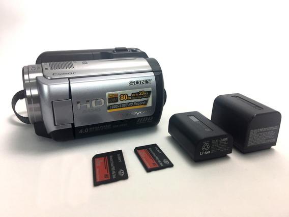 Filmadora Full Hd Sony Hdr-xr100 + 2 Baterias + 2 Memórias