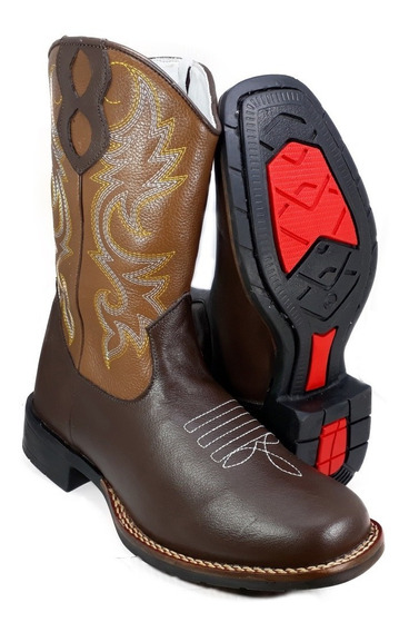 Bota Country Masculina Feminina Bico Quadrado Texana 9000