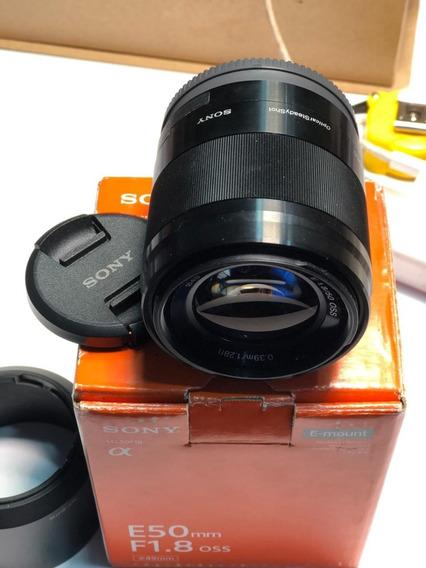 Lente Sony E 50mm F/1.8 Oss - Sel50f18