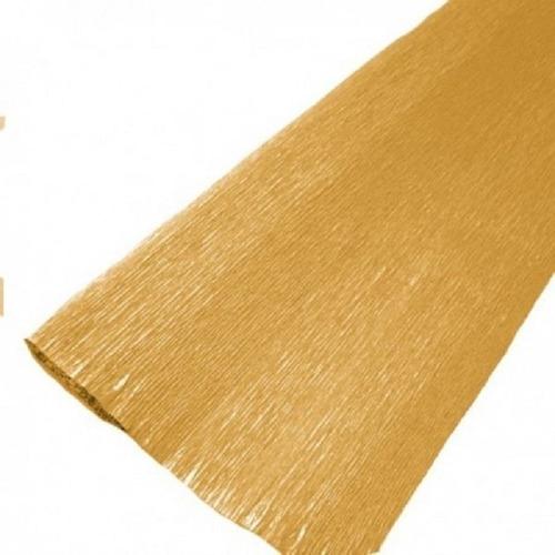 Papel Crepé Metalizado Oro 50x200cm Sid