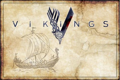 Poster Foto 60x90cm Série Vikings Cartaz Para Decorar Quarto