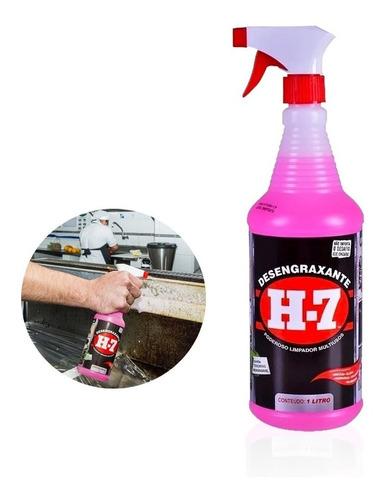 Desengraxante H-7 - 1 Litros - Limpeza Pesada - H7 Original