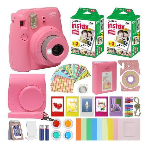 Fujifilm Instax Mini 9 Camara, Accesorios Incluidos,rosado