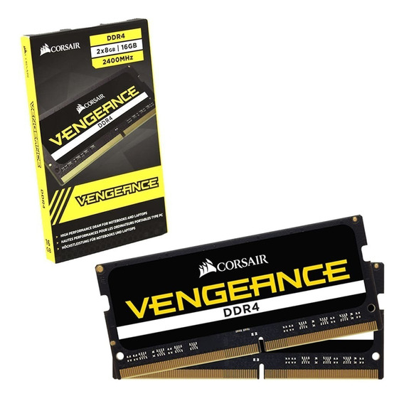 Memoria Notebook Corsair Vengeance 16gb 2x8gb Ddr4 2400mhz